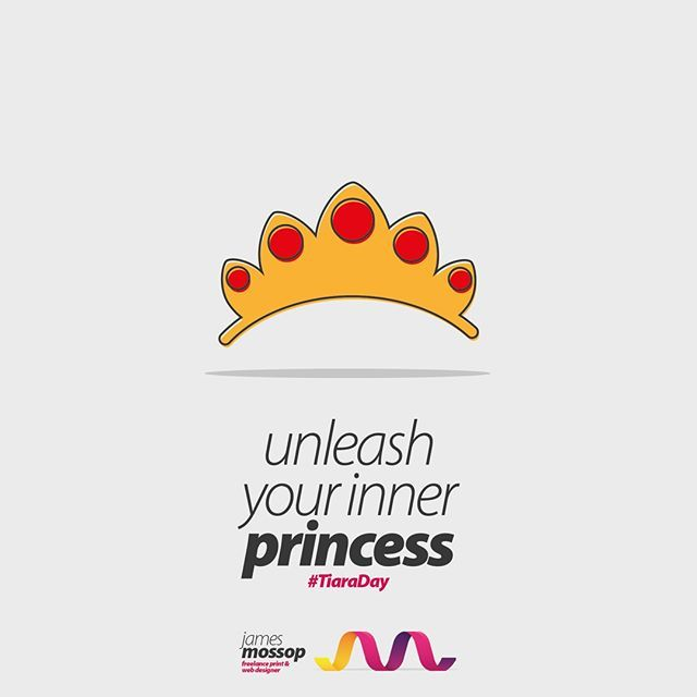 this might be the best day this year for some, its tiara day :) wear it with pride & a 3 day weekend what more do you want. . . . . #TiaraDay #Princess #Print #PrintDesign #WebDesign #Web #logo #LogoDesign #Branding #FlatIcon #Layout #JMFreelance #Freelancer #Northants #Corb…