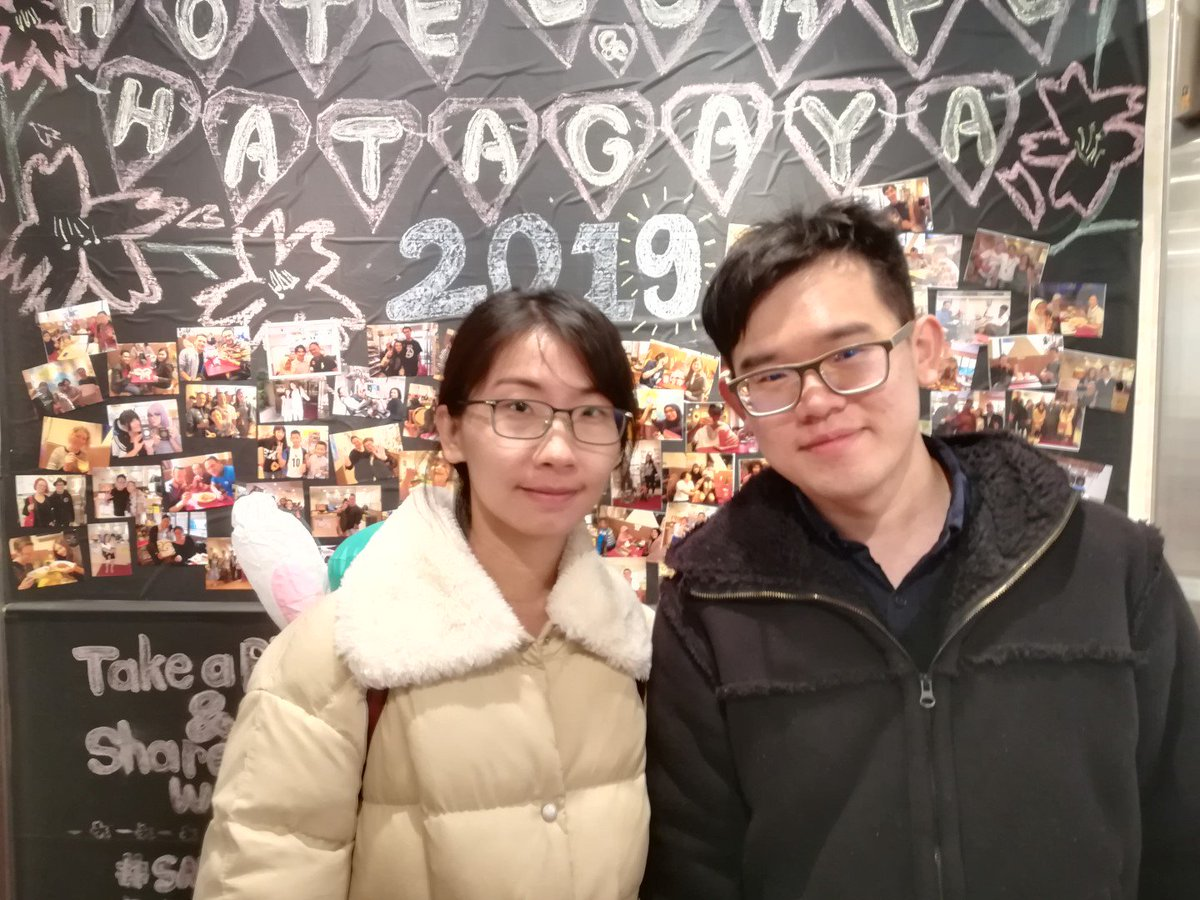 A very friendly couple from Taiwan. They speak Japanese very fluently. We are so happy that they are enjoying their trip in Japan.#hotel #cafe #wifi #24hours #yasutweet #Taiwan