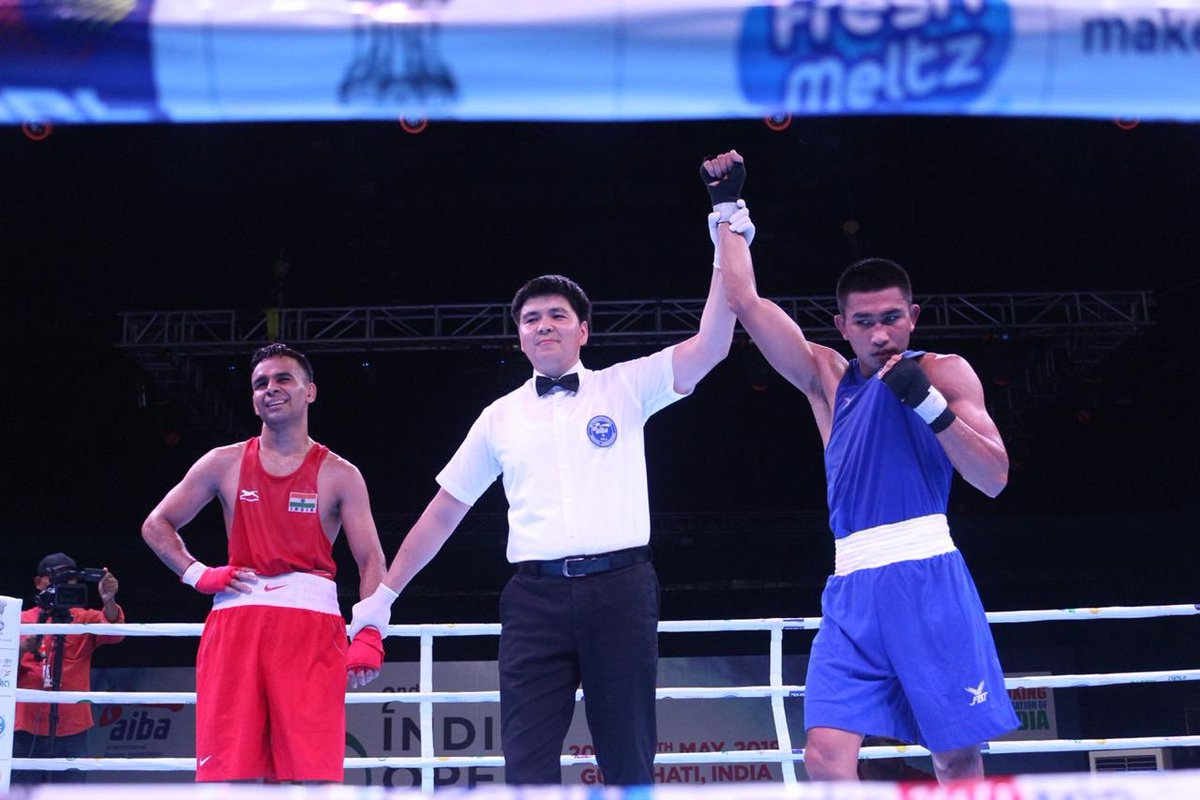 A huge vote of congratulations to all the foreign boxers who assured berths in the Finale of #IndiaOpenBoxing 2019👏👏  🥊#JosieGabuco (🇵🇭) 🥊#EumirFelixDelosSantos (🇵🇭) 🥊#AssuntaCanfora(🇮🇹) 🥊#FrancessaAmato(🇮🇹) 🥊#ColinLuisRicharno (🇲🇺) 🥊#ChatchaiDechaButdee (🇹🇭)