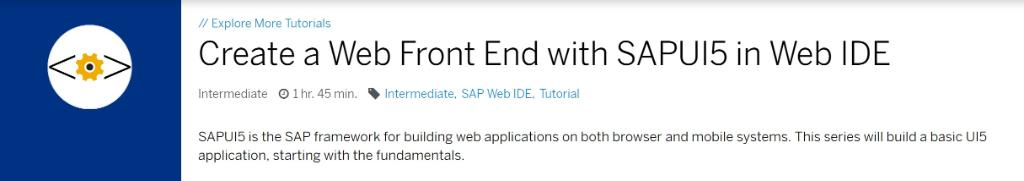 Follow this step-by-step tutorial and learn how to create a Web Front End with SAPUI5 in Web IDE: http://sap.to/6010El6Zp