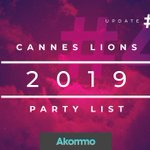UPDATE #4 IS HERE, LADIES AND GENTS! The #CannesLionsPartyList has been updated again, this time with details on Facebook Beach and the annual @youngdogs party! Click here to sign up for the latest #CannesLions parties --> https://t.co/iD9n0EkfAY