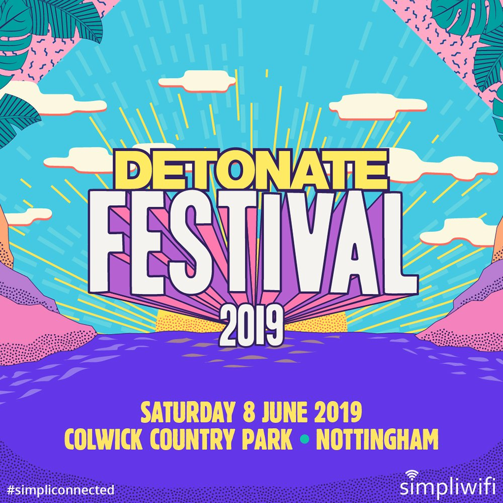 We're thrilled to be supporting Detonate again this year! Providing #internet access and #secure #WiFi for the event teams. An amazing lineup! #simpliconnected #eventtech #eventteam #eventprofs #detonate #festival