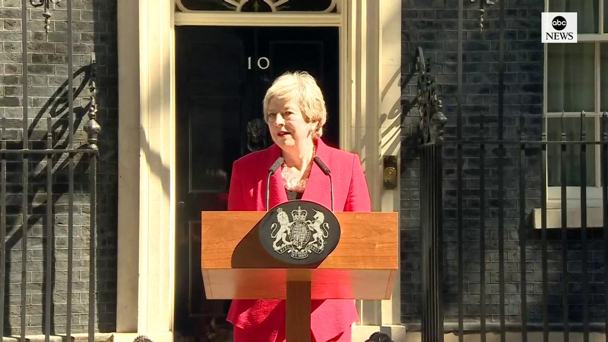 BREAKING: U.K. Prime Minister Theresa May announces her resignation. https://abcn.ws/2HNsEQS