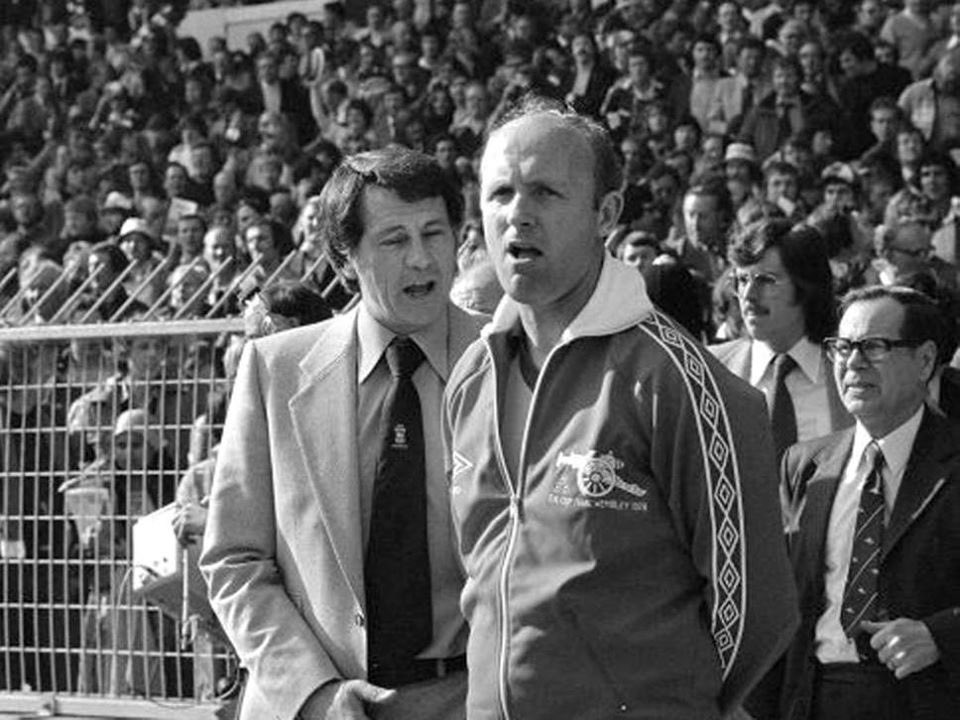 #BobbyRobson and #DonHowe in the 1978 #FACupFinal between #IpswichTown and #Arsenal at Wembley.