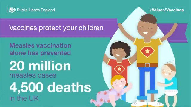 Because of routine vaccination, we no longer see smallpox, and polio has almost been eradicated. Find out which vaccinations you and your family are eligible for by using our vaccination checklist: ow.ly/XiMH30oxnxT #ValueOfVaccines