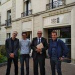 Réunion avec les @JeunesAgri de la Côte-d'Or ce matin au @CD_CotedOr, représentés par leur Président A. Carré, leur S.G G. Moyot et le comité d'organisation de la Fête de l'Agriculture qui se tiendra le 31 août prochain à Poiseul-la-Ville, sous le signe du 100% #CôtedOr.