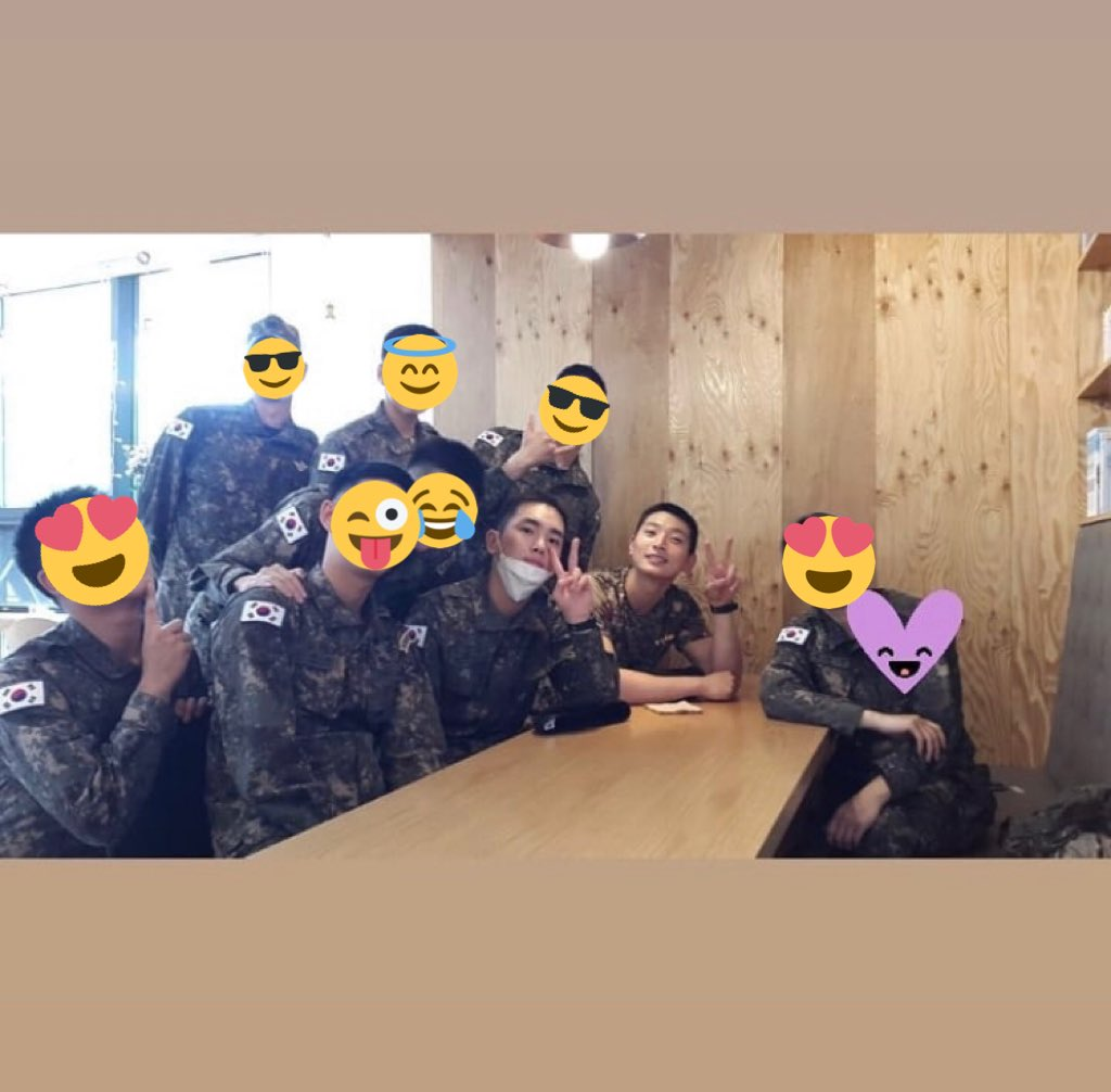 [INSTAGRAM] – 190524Kibum and #2AM's Jinwoon appears on pictures posted by fellow soldier Lee Wonyong. cr: won3ang via @mcspicekey