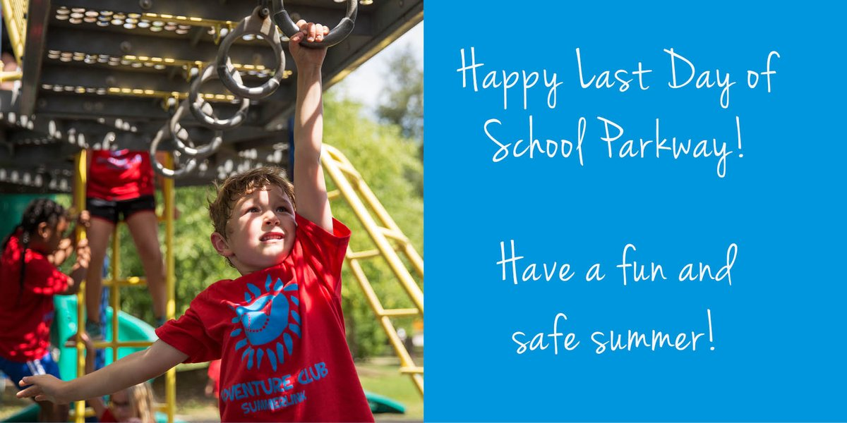 Happy last day of school Parkway! Hope you have a fun, exciting and safe summer! #lastday #schoolsoutforsummer