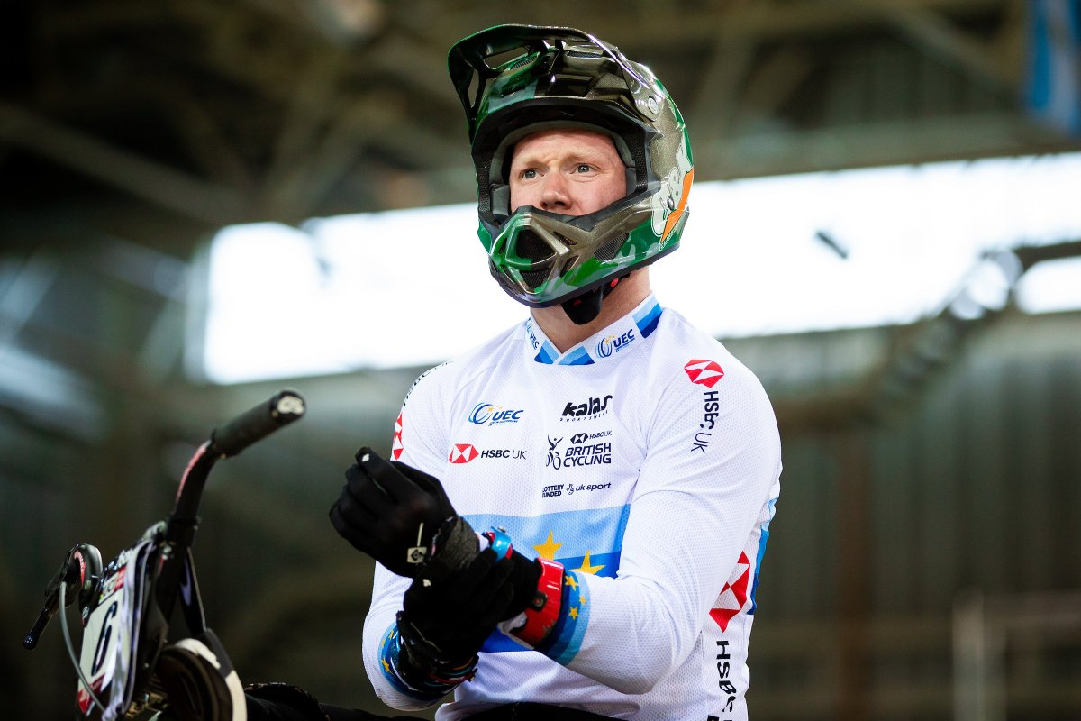 European Champion @KEvans26 will be flying the flag for the Great Britain Cycling Team at the @UEC_cycling BMX European Cup this weekend in Sarrians, France 🇫🇷  Bring it home Kyle 🙌