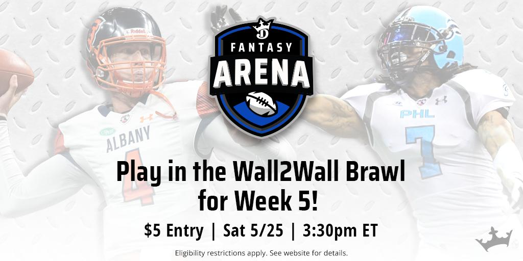 Week 5 of the @OfficialAFL kicks off Saturday, and you could win the $1,000 top prize!  🏈 ➡ https://dkng.co/2VZ1nVA