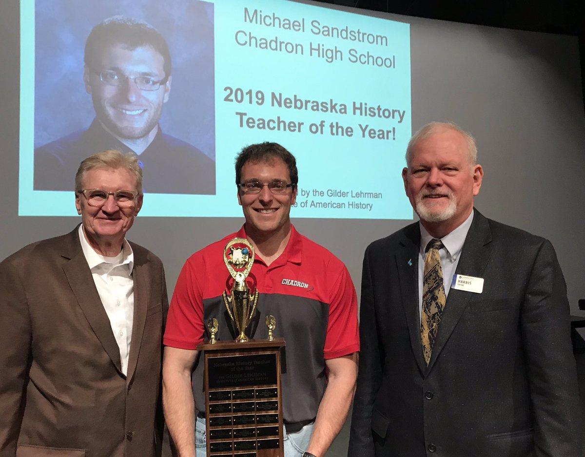 Congratulations to CHS Teacher, Mike Sandstrom, the 2019 Nebraska History Teacher of the Year! #GoCardsNation