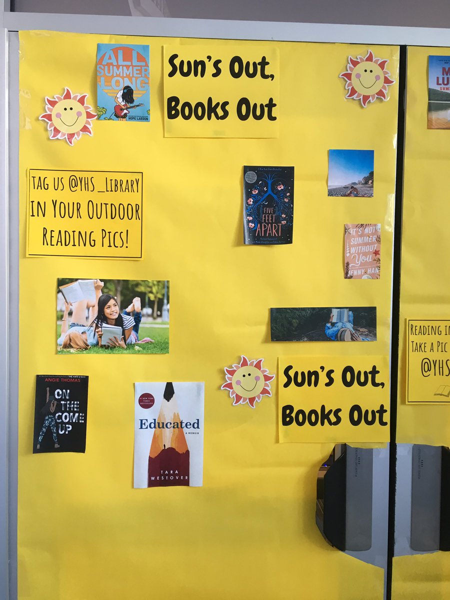 Reading in the sunshine? Take a pic and share with us <a target='_blank' href='http://twitter.com/YHS_Library'>@YHS_Library</a> <a target='_blank' href='http://search.twitter.com/search?q=YorktownReads'><a target='_blank' href='https://twitter.com/hashtag/YorktownReads?src=hash'>#YorktownReads</a></a> <a target='_blank' href='http://twitter.com/Principal_YHS'>@Principal_YHS</a> <a target='_blank' href='http://twitter.com/YorktownHS'>@YorktownHS</a> <a target='_blank' href='http://twitter.com/APSLibrarians'>@APSLibrarians</a> <a target='_blank' href='https://t.co/QVtaN0gfJ8'>https://t.co/QVtaN0gfJ8</a>