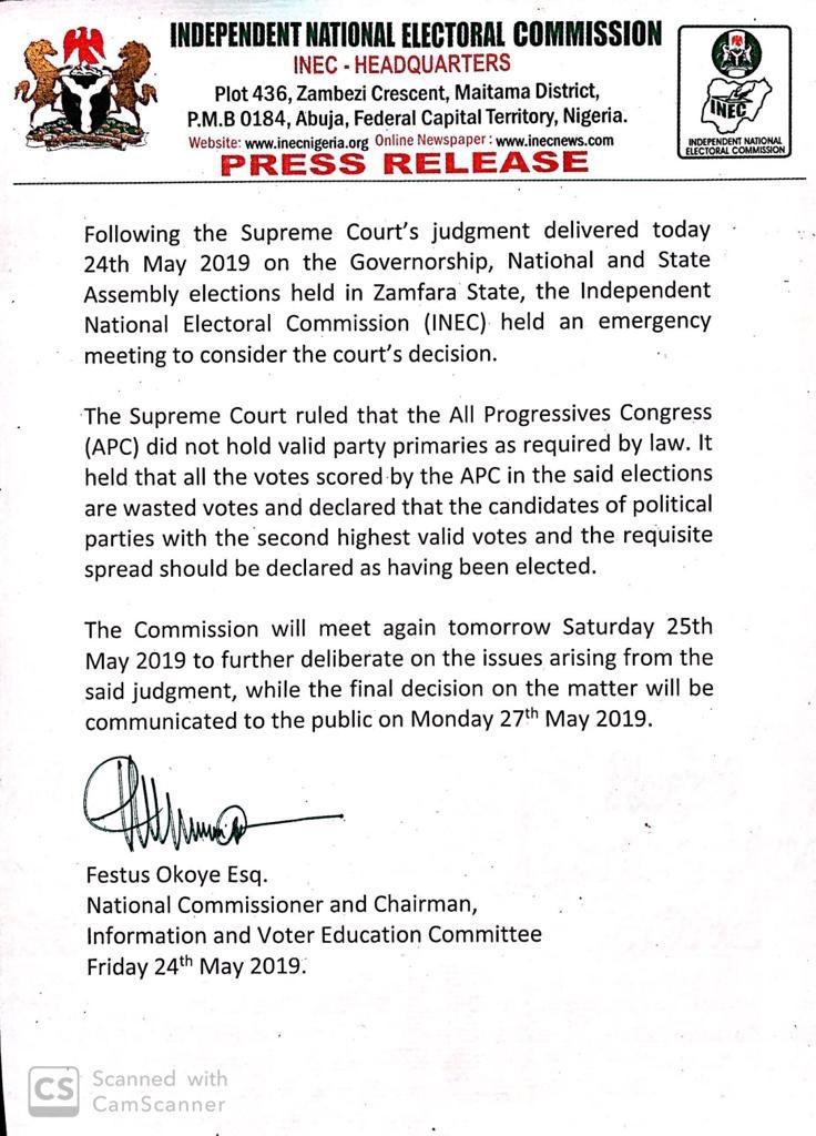 INEC Nigeria on Twitter: