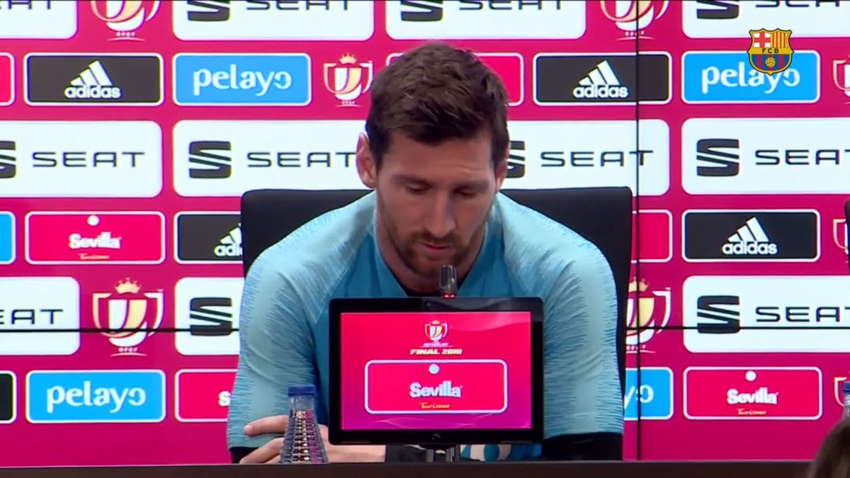"""🔊 Messi: """"It's a final, we have the possibility of winning a double and finishing the season well"""" 💪 #TotsUnits"""