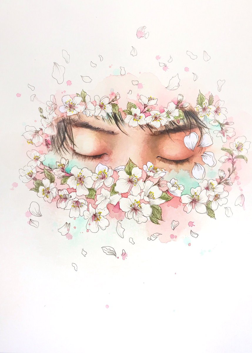 One of my Chinese friends created this amazing masterpiece! The most beautiful haruさん  #YuzuruHanyu #羽生結弦  #GetWellSoonYuzu<br>http://pic.twitter.com/bJQWVsQhhL