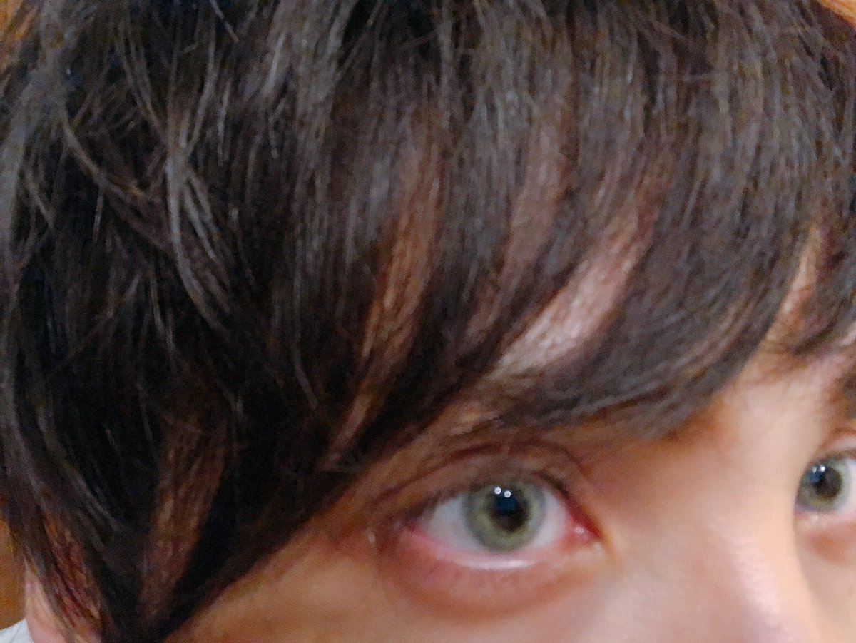 黒目 の ふち が 白い