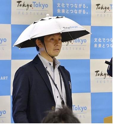 小池都知事のオリンピック暑さ対策のかぶる傘、今からでもいいから→にしよう