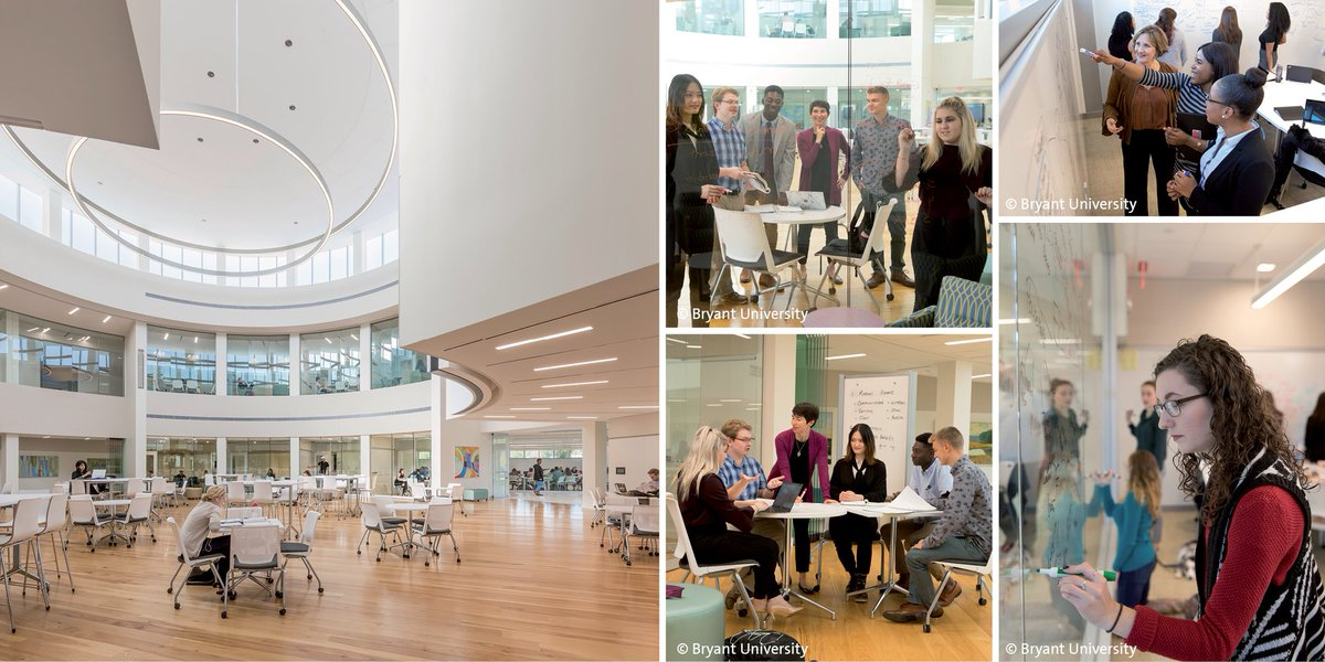 EYP's #TotalImpactDesign approach in designing @BryantUniv's #AcademicInnovation Center brought the university to the forefront of business schools in the nation, advanced instructional methods by 94% and increased student to student engagement by 84%: http://bit.ly/2WYx7Xt