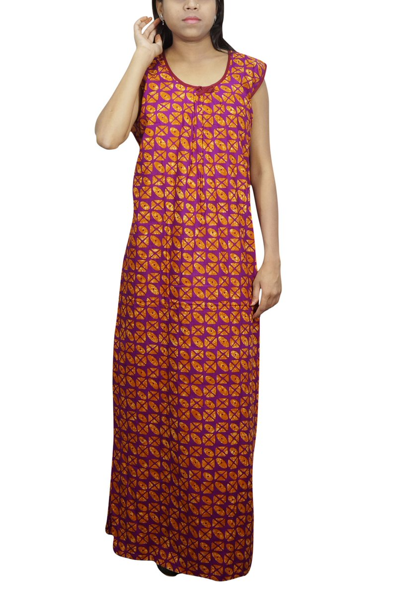 4efe2bc438e We offer a cotton collection of nighty long maxi nightgown for women s.  especially beautiful floral neck stylized summer nightwear to comfort you.