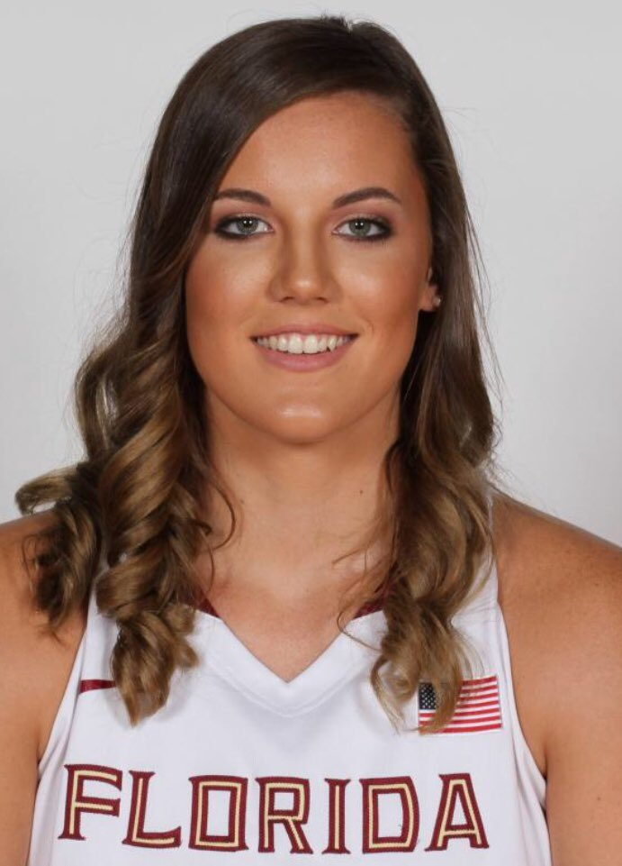 Our third panelist is: Gabby Bevillard! Gabby graduated from FSU in 2017. While in Tallahassee, she represented the Noles as a member of the women's basketball team. Gabby now works as a global brand marketing specialist for Nike Sportswear in Oregon! #NolesKnowSport<br>http://pic.twitter.com/7bwbnIYqCw