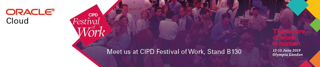 GUESS WHAT! festivalofwork.com Oracle are the Principal Sponsors for this years CIPD event in London, are you going? Pop along to the Oracle stand and say hello.