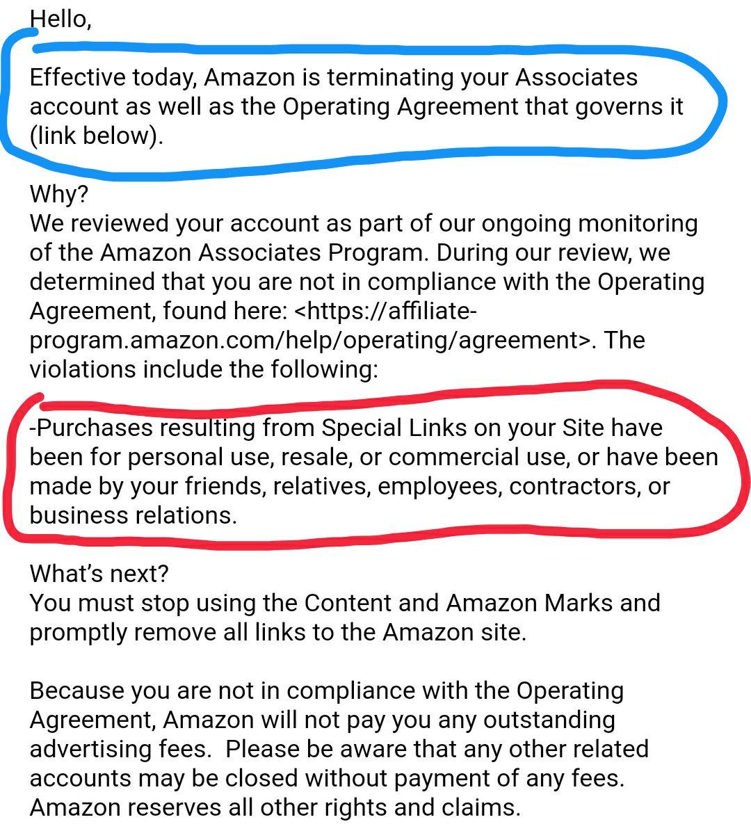 amazon affiliate fees