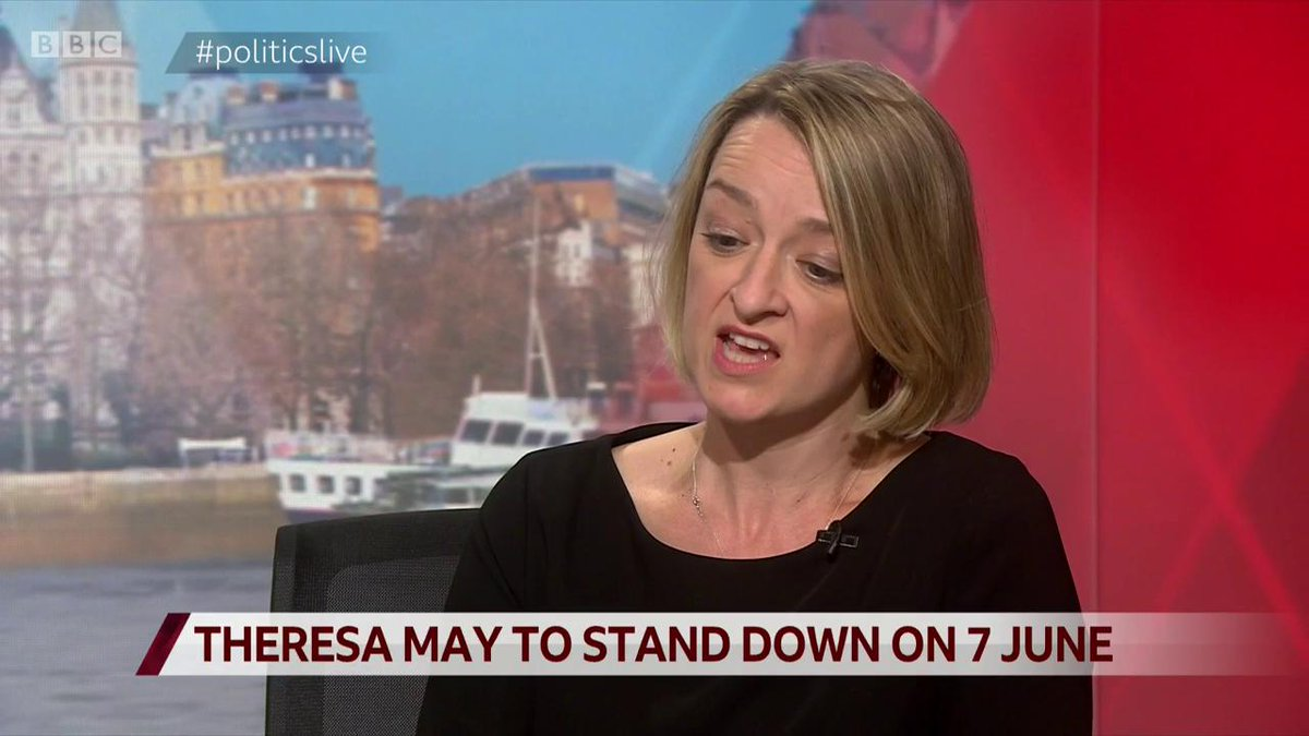 """.@bbclaurak on Theresa May era and possibility of two elections in 2020""""A terrible failure of a prime minister who basically had one job to do, and did not do it and has left the party… in a worse state than it was after the referendum"""" #politicslive https://bbc.in/2HRIgmw"""