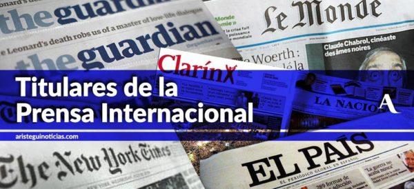 Así amanecen los principales diarios en nuestro país y del mundo.Te compartimos los titulares para este #FelizViernes Crisis en hospitales http://ow.ly/TTeq30oOHKn  EU aumenta cargos de Assange http://ow.ly/24nk30oOHL1