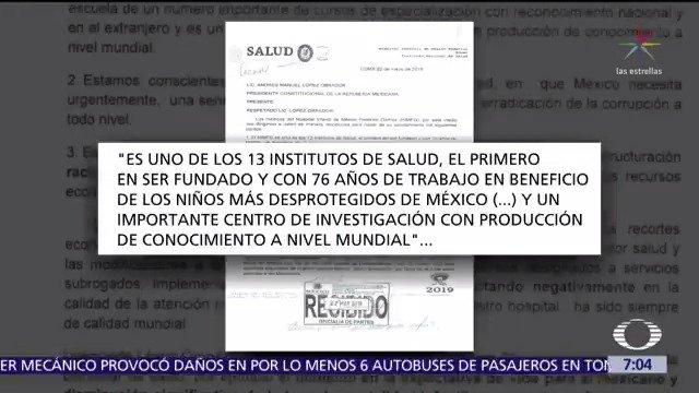 Personal médico y directivos del Hospital Infantil de México 'Federico Gómez' enviaron una carta al presidente López Obrador donde le piden 'no quitar' servicios médicos a los mexicanos #DespiertaConLoret con @CarlosLoret