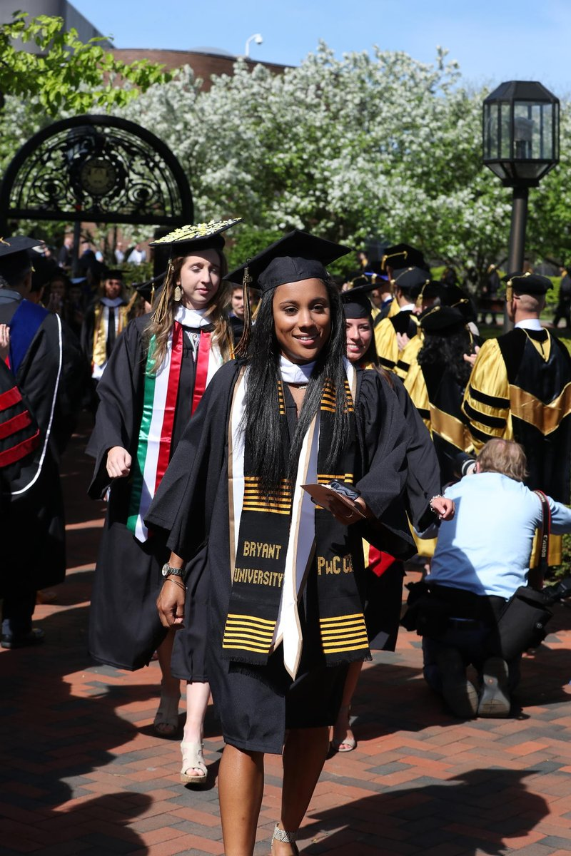 The Class of 2019 – 1,015 members strong – completed undergraduate or postgraduate studies in the arts and sciences and in business and were awarded a Bryant University degree at Bryant's 156th Commencement exercises. #BryantGrad2019  https://news.bryant.edu/bryant-celebrates-its-156th-commencement …