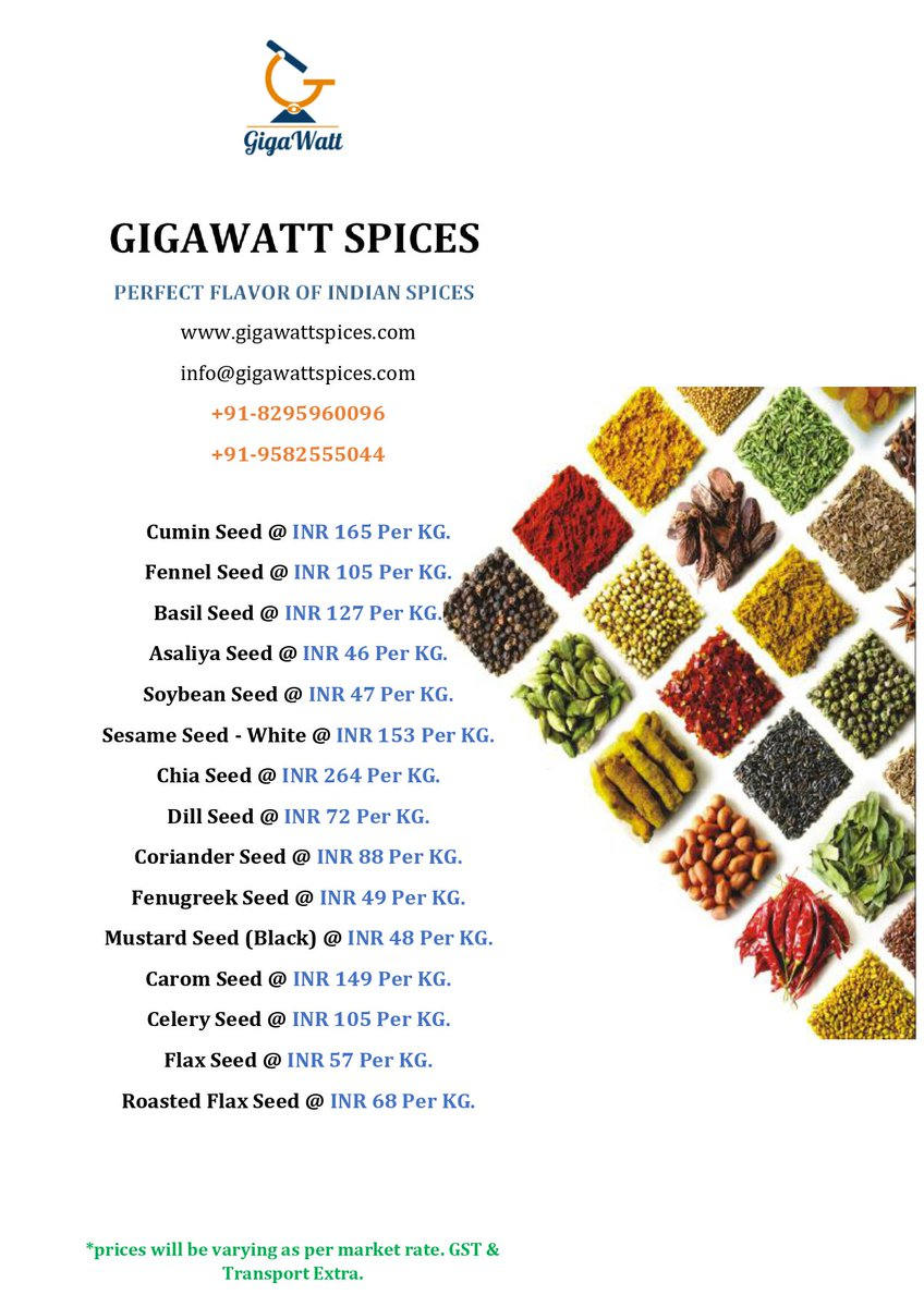 Gigawatt Spices @gigawattspices Wattsapp:91-8295960096 #redchili #turmeric #bayleaf #export #food #Seed #spices #organic #pulses #herbs #ExportQuality #OverseasBuyer #IndianBuyer #sesameseed #indiaspices #india #lentils #rice #onion #dryred #masala #powder #whole30 @Spices_Board