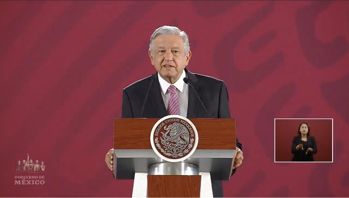 Confirma López Obrador que el próximo lunes estará el secretario de Salud en la conferencia matutina y expondrá cómo se atendió el problema de los medicamentos para enfermos de VIH. EN VIVO: http://bit.ly/2VGiDKW