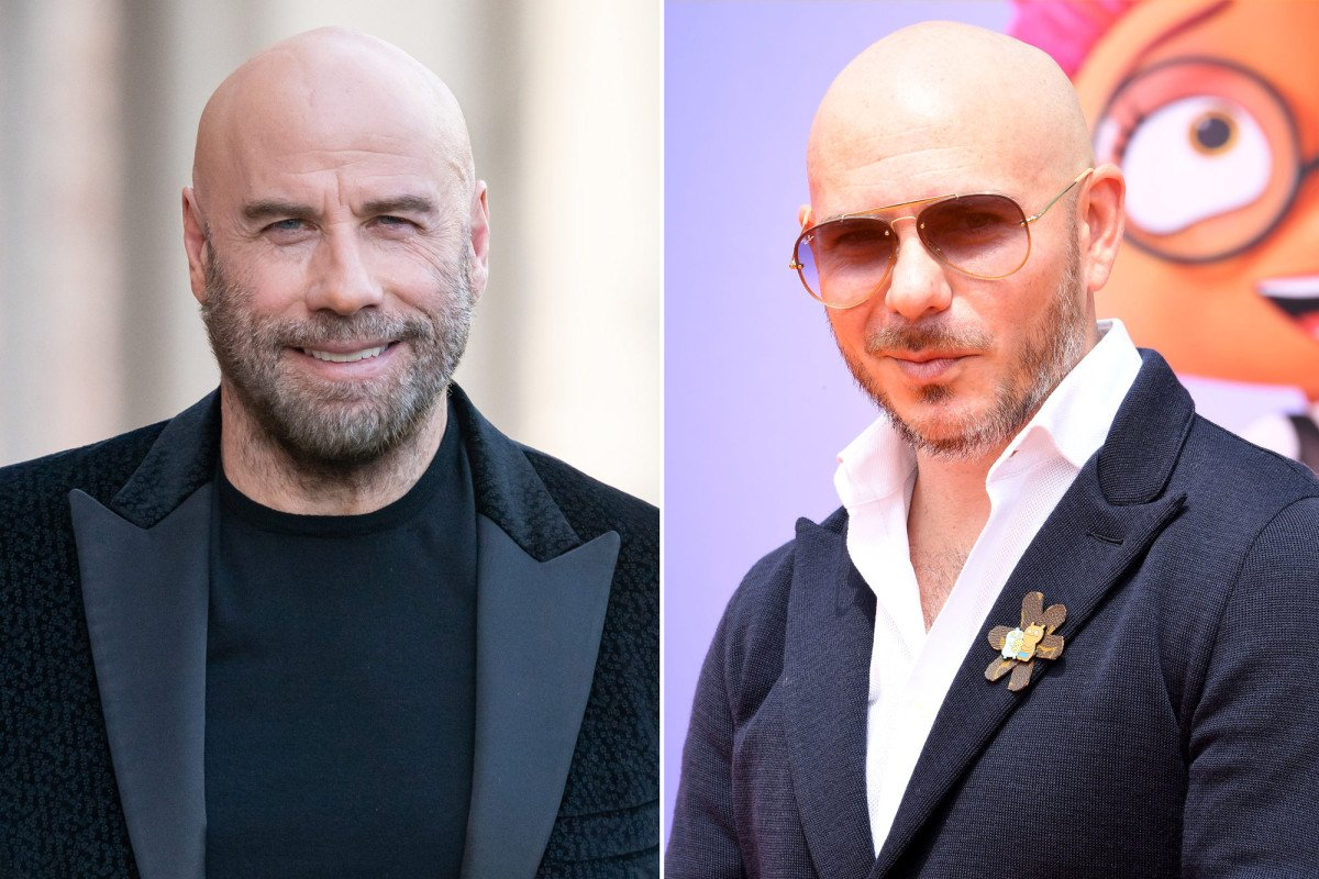 John Travolta says Pitbull encouraged him to go bald  https:// trib.al/kWVx6pp  &nbsp;  <br>http://pic.twitter.com/ZMbrWMtLk5