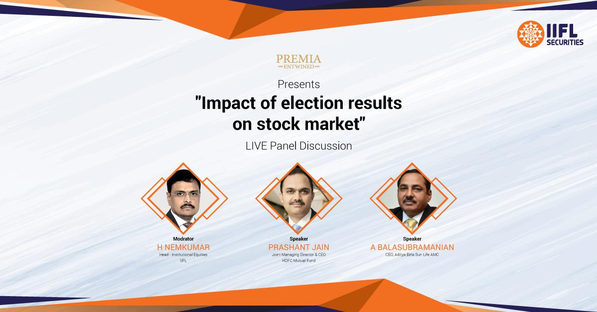 #Staytuned to our channel as we unveil the way forward for the stock market after #LokSabhaElections2019  results with the industry mavens Mr Prashant Jain, HDFC Mutual Fund, Mr A Balasubramanian, Aditya Birla Sun Life AMC and Mr H Nemkumar,  IIFL. A #PremiaEntwined exclusive.<br>http://pic.twitter.com/LhQ0AVGwh2