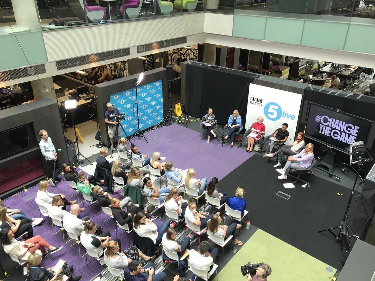 Join us for the final part of our Friday Sports Panel #ChangeTheGame SpecialOur panel and audience are discussing body image with #WomenInSport Listen now on @BBCSounds http://bbc.in/2EtZVQl Watch now on @BBCSport http://bbc.in/2HPCl17