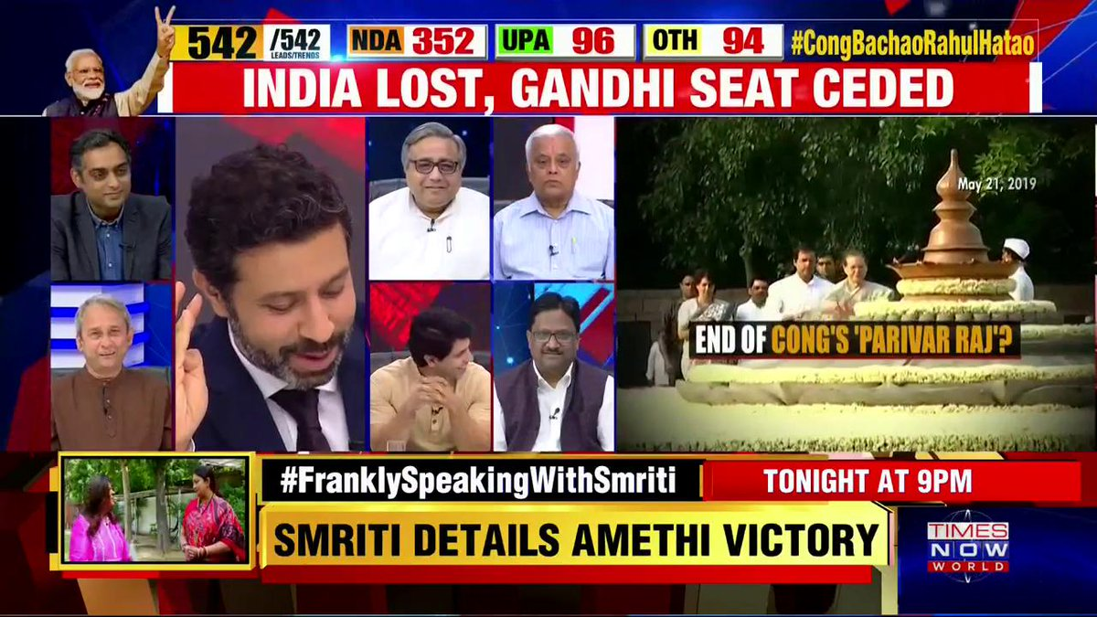 Congress is really down in its performance, they can do only better from here: @varnishant, Political Analyst. |  #CongBachaoRahulHatao CHORUS.
