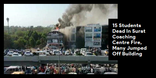 Lead story now on http://ndtv.comThe fire engulfed the third and fourth floor of Taxshila Complex in Surat, say officials https://www.ndtv.com/india-news/huge-fire-at-multi-storey-building-in-surat-18-fire-engines-at-the-spot-2042615…#NDTVLeadStory #SuratFire