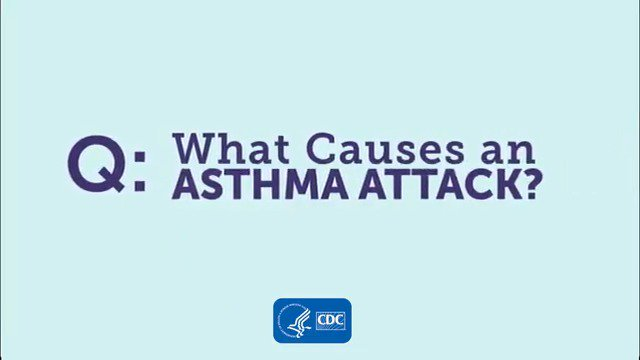Image for the Tweet beginning: What causes an #asthma attack?