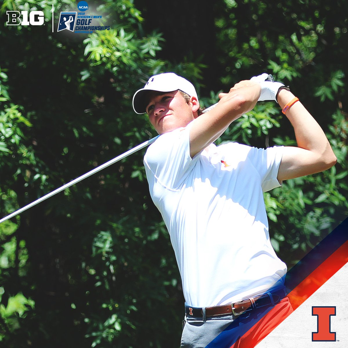 2019 #B1GMGolf Champs, @IlliniMGolf advances to the @NCAA Championships for the 12th straight season after finishing the regional tournament 25-under par total - becoming one of just three schools to have won four straight Regional Championships.