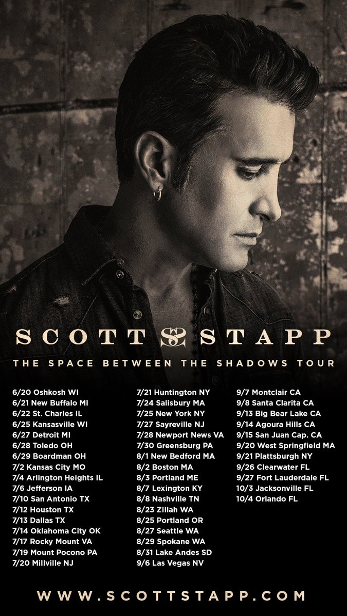 Scott Stapp On Twitter Tickets And Vip Packages Available Now