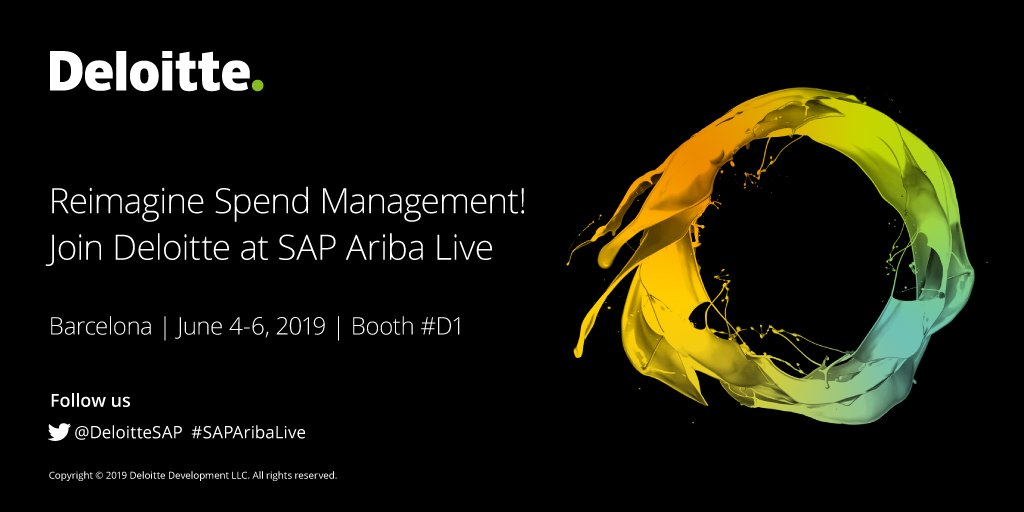 Get answers to your big questions about digital procurement. Connect with @DeloitteSAP at #SAPAribaLive Barcelona for insights that can help you #ReimagineEverything and drive #ProcurementWithPurpose. June 4-6. https://deloi.tt/2QdmgX6