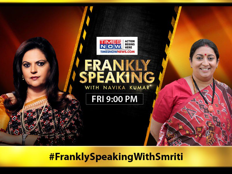 For the 1st time after winning in @RahulGandhi's home turf, @smritiirani details her Amethi victory, and how she breached Rahul's bastion. Watch the exclusive blockbuster interview of Smriti Irani with @navikakumar tonight at 9 PM. | #FranklySpeakingWithSmriti