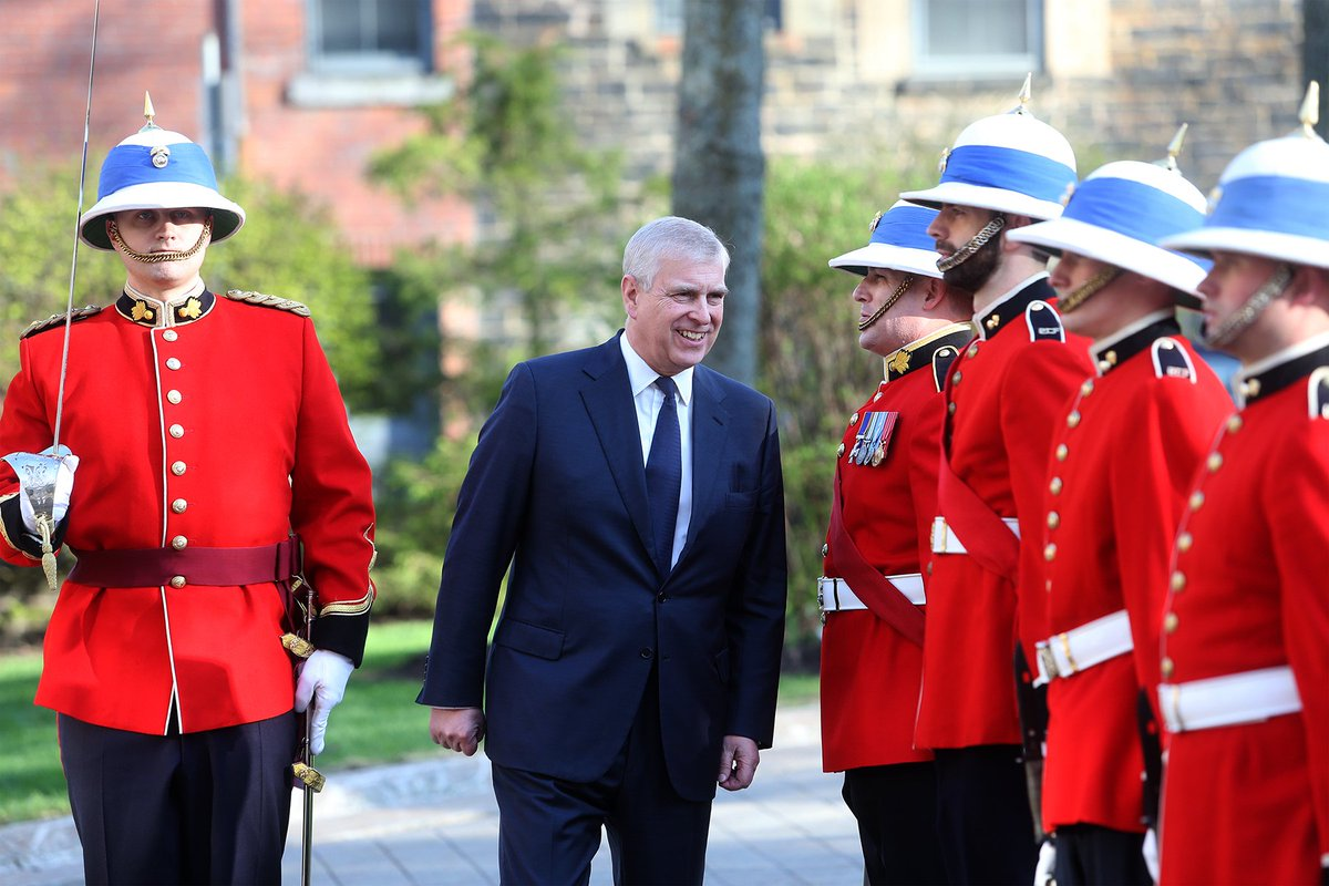 .@TheDukeOfYork then arrived in Halifax for #RoyalVisitCanada to attend a number of engagements in Halifax and Toronto.  HRH will also host the first ever Pitch@Palace Canada, an initiative set up by The Duke to support tech entrepreneurs worldwide. 🇨🇦