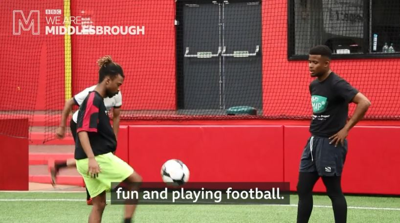 """""""It's like my second home. I'm proud to be here.""""Meet the football team bringing together asylum seekers and refugees in #Middlesbrough Watch http://bbc.in/2VM4o6v#GetInspired"""