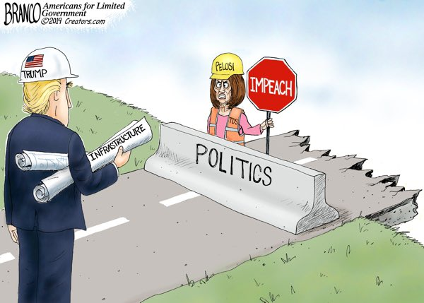 A.F. Branco Cartoon: Obstruction http://dailytorch.com/2019/05/cartoon-obstruction/… #Obstruction #CrazyNancy #InfrastructureWeek #infrastructure