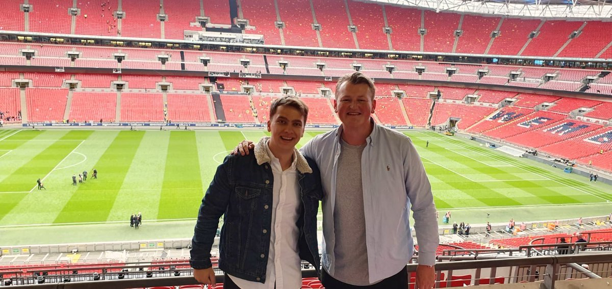 IMG works closely with some of the best Tour Operators and in our Sales Incentive Programme with @yourgolftravel Max & Tom were the best on selling IMG's clubs throughout the quarter.  As a reward they enjoyed full hospitality at IMG's box @ClubWembley and watched the #FACupFinal