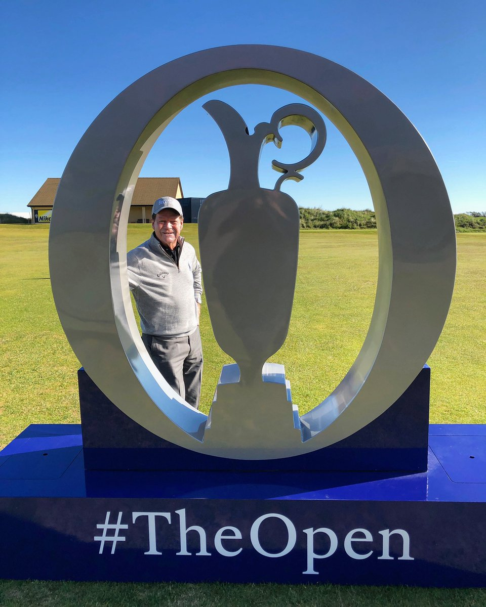Enjoying a visit to Royal Portrush. Can't wait for #TheOpen! @TheOpen @RandA