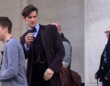 Matt coming out of the National Museum Cardiff  where they filmed some scenes for the 50th anniversary special  The Day of The Doctor.  #MattSmith #DoctorWho #DrWho<br>http://pic.twitter.com/0Dx94sYzHP