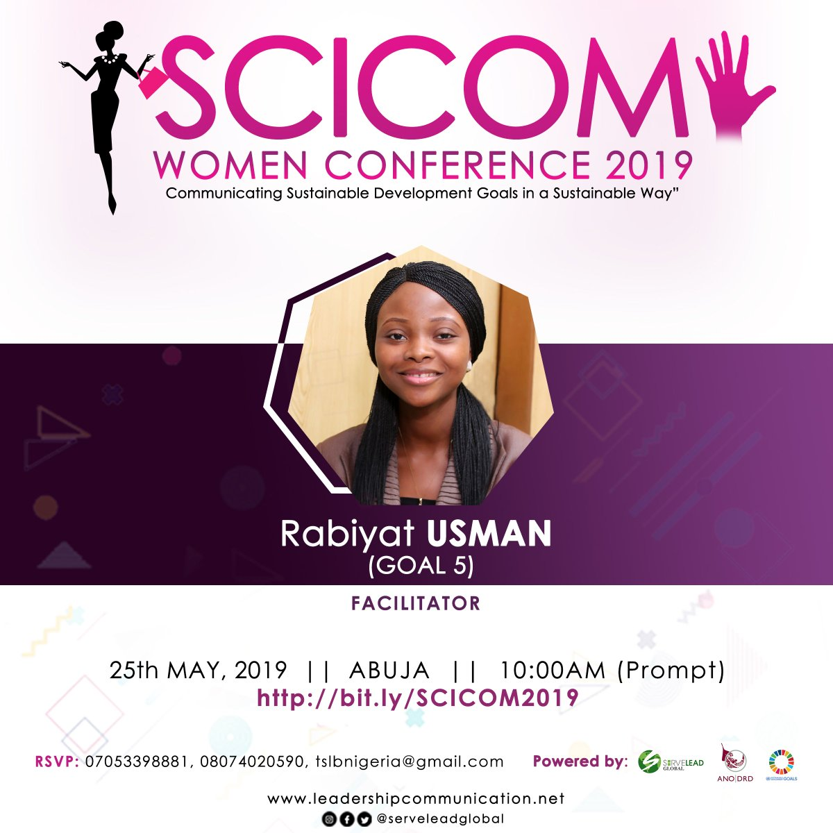 It's a great pleasure to invite distinguished and aspiring ladies/gentlemen to grace a phenomenal event scheduled for 25th May, 2019 tomorrow, Saturday at 10:00am. #Thread  #FridayThoughts  #FridayFeeling  #GratefulHeart  #EqualityAdvocate pic.twitter.com/H0F9Sd86dZ