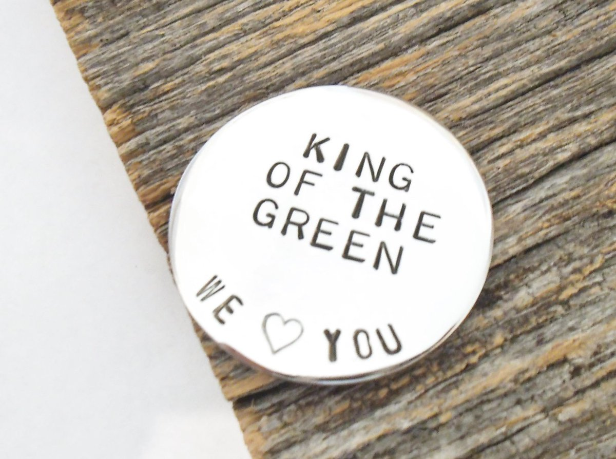 Personalized Golf Ball Marker Dad's Gift Golfer Christmas Grandpa Golf Gift Husband King of the Green Men Gift Golfing Brother Daddy Present http://tuppu.net/f349f82b #CandTCustomLures #Shopify #King_of_the_green